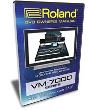 Roland VM-7100, VM-7200, VM-C7100, VM-C7200 Training DVD Tutorial