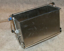 PNEUMATIC CYLINDER OPERATED PACKAGING DUAL DUMP HOPPER RECTANGULAR STAINLESS NEW