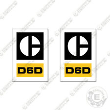Caterpillar D6D Dozer Number Decals (Set of 2) Equipment Decals 1970's