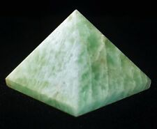 PYRAMID - AMAZONITE Crystal with Description Card & Pouch - Healing Stone Reiki