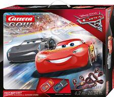 Carrera 62416 Go!!! DISNEY Pixar CARS 3 Fast Not Last Slot Car Race Set 1:43