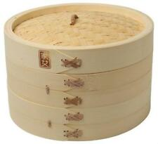 Joyce Chen Columbian Home Prod J26-0013 10 in. 3 Piece Bamboo Steamer Set