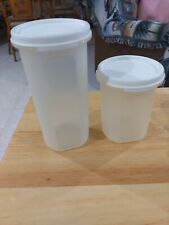 Tupperware Modular Mate 1606 #2 &1641 #3 round with light white lids
