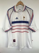 FRANCE 1998 ADIDAS AWAY FOOTBALL SOCCER SHIRT JERSEY MAILLOT WORLD CUP