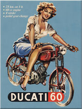 Ducati 60 Classic Vintage Old Bike Motorcycle Pin-up Girl Gift Fridge Magnet Art