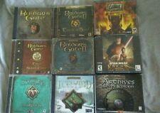 Baldur's Gate 1 & 2,  Icewind Dale Fallout Star Wars Knights PC Game Lot!