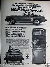 """1976 MG Midget Special Convertible-Original Print Ad 8.5 x 10.5"""""""