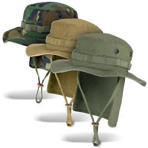 Safarihut Buschhut Hut mit Nackenschutz Mütze Cap Hat Tropenhut Outdoor Tropen