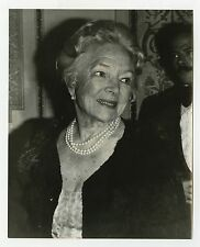 Helen Hayes - Candid 8x10 Photograph by Peter Warrack - Previously Unpublished