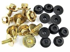 Body Bolts & Flange Nuts for Nissan- M6-1.0mm x 16mm Long- 10mm Hex- 20pcs- #385