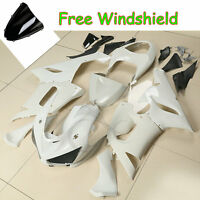 Unpainted White Injection Fairings Bodywork For Kawasaki Ninja ZX6R ZX636 05-06