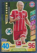 Match Attax Extra 17 / 18 576 Arjen Robben (Bayern München) v Borussia Dortmund
