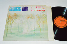 GEORGES DOR Poemes et Chansons LP 1970 Gamma Records Canada France GS-142 VG/VG