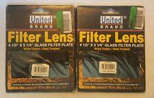 2 NEW United Brand Welding Helmet Glass Filter Lens Plate 4.5 x 5.25  (AA1)1