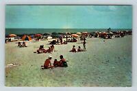 Chrome View of Beach Scene, Ocean City MD, Postcard X28