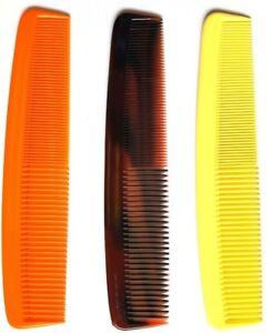 "Duralon 8"" (21cm) LARGE Plastic Dress Dressing Hair Combs Strong & Flexible"