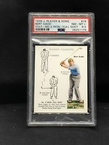 1939 John Player & Sons #16 Bert Gadd PSA 8.5