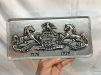 Vtg Cast Aluminum 1776-1976 Pennsylvania Coat of Arms Bicentennial License Plate