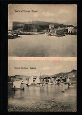 More details for greece cyprus kyrinia harbour & castle dualview j p foscolo postcard e20c - gr85