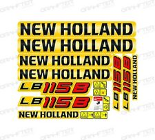 New Holland LB115B Backhoe Decal / Adhesive / Sticker Complete Set