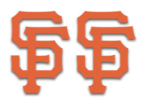 San Francisco Giants Logo Vinyl Decal Sticker 2 items
