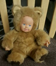 """Anne Geddes Doll with Brown Bear Suit Unimax 9"""""""