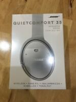 BOSE QC 35 QuietComfort Silver Noise Cancelling Wireless Headphones FREE POSTAGE