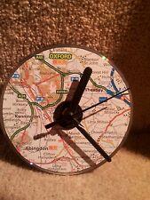 Mapa de Oxford CD Cuarzo Reloj. Decoupage. hecho A Mano. Regalo de Navidad.