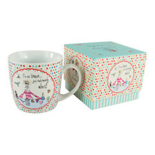 Born to Shop Comical Coffee Porcelain Mug – Boxed Gift Funny Novelty Womens Gift