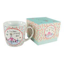 Born to Shop Comical Coffee Porcelain Mug – Gift Box - Womens Gift - Novelty