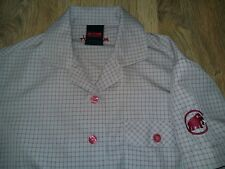 Mammut ladies womens beige red checked outdoor summer short sleeve shirt size S