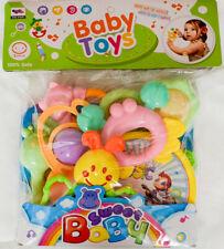 Baby Spielzeug Set 7 Rasseln +Tamburin Motorik Babyrassel Rassel
