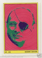 MOSHE DAYAN ISRAEL  ANNEES 70s AUTOCOLLANT STICKERS