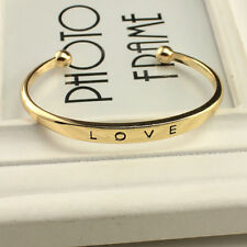 Charm Women Gold/Silver Plated LOVE Bracelet Jewelry Charm Cuff Bangle Gift