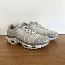 🔹🔹🦉 Mens Nike Tn Air Max Plus Running Sneakers Shoes White & Silver Size 8 41