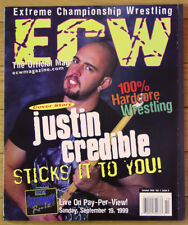 ECW Magazine #3 - Justin Credible - Jerry Lynn, Chris Chetti  - Brand New!