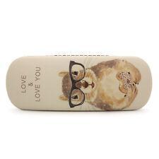 Cute Cartoon Squirrel Printing Eyeglasses Case Hard Faux Leather Storage Box