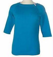 MEDIUM - *Fuchsia* - DIALOGUE Silk Blend Ribbed Sweater 3/4 Sleeve QVC $48 M NWT