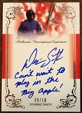 2013 Leaf Trinity Dominic Smith Inscription Auto RC Rookie /10