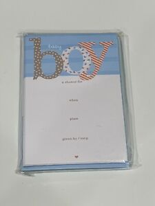 American Greetings 20 Baby Shower Invitations& Envelopes Baby Boy Shower New