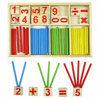 MATHEMATICAL INTELLIGENCE STICKS EDUCATIONAL MONTESSORI LEARNING KIDS TOY GIFT