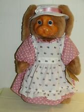 Vintage Mrs Nickleby Raikes Wood Face Bunny Rabbit Applause 1988 15in Mint inBox