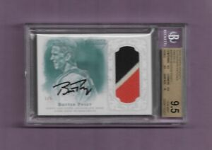 2015 TOPPS DYNASTY BUSTER POSEY - 3-COLOR JERSEY AUTO - #3/5 -GRADED BGS 9.5!