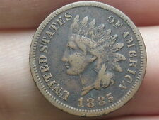 1885 Indian Head Cent Penny, Fine/VF Details, Partial LIBERTY
