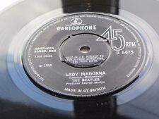 THE BEATLES ORIGINAL 1968 UK 45 LADY MADONNA EXCELLENT