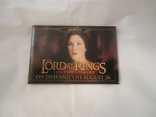 The Lord of the Rings The Two Towers Arwen Promotional Pin Button Pinback