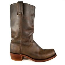 Frye Cavalry 12L Leather Boots Size 9.5 Womens Square Toe Military Style Brown