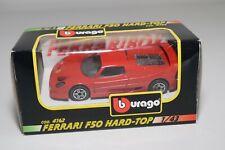 V 1:43 BBURAGO BURAGO 4162 FERRARI F50 F 50 HARD-TOP RED MINT BOXED