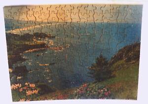 Vintage Tuco Interlocking Picture Puzzle Blue Pacific 300 Piece 1957