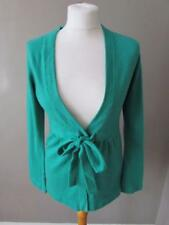 M & S AUTOGRAPH Ladies Emerald Green Pure Cashmere Cardigan Tie Belt Size 12